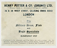 Advert for Henry Potter, Charing Cross
